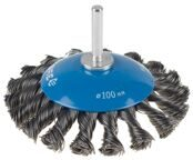 Cone-shaped Wire Brush for Drill Ø100mm 3Y6P PROFESSIONAL