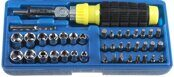 Set of Ratchet Screwdriver + Bits + Sockets STAYER TOP FORCE 41pcs