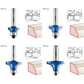 Router Edge Bit Set 3Y6P PROFESSIONAL 4pcs