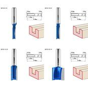 Router Slot Bit Set 3Y6P PROFESSIONAL 4pcs