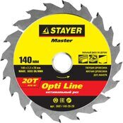 "Circular Saw Blade STAYER 140mm 20Т ""OPTI-Line"""