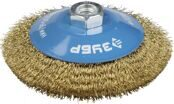 Cone-shaped Wire Brush for Angle Grinder Ø125mm 3Y6P PROFESSIONAL